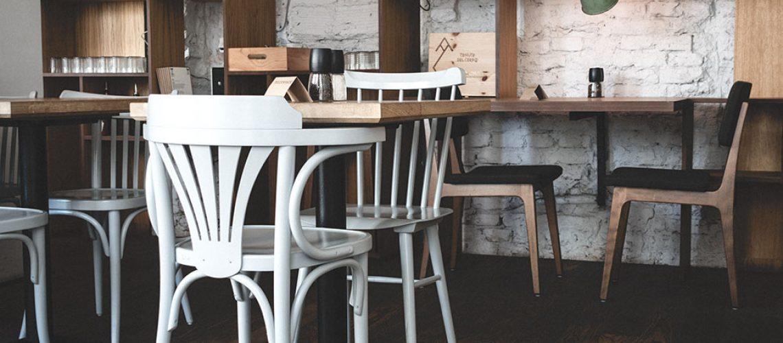 Interior of cozy restaurant