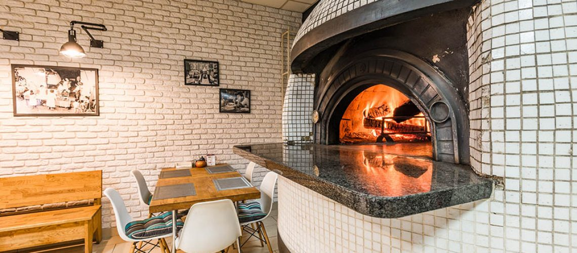 Traditional woodfired pizza oven.